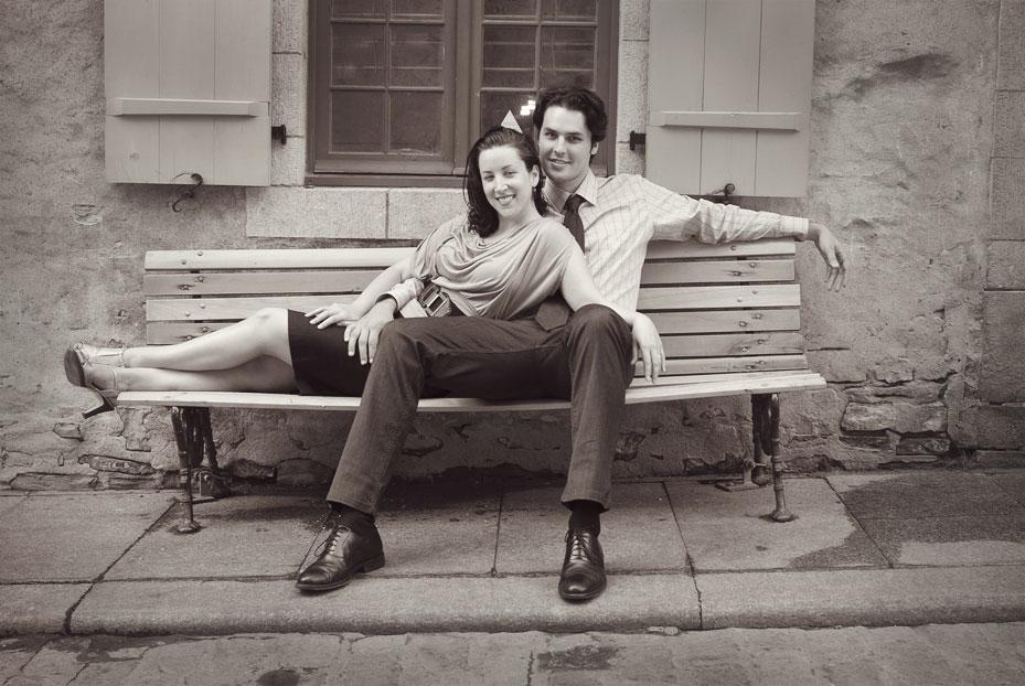 Portraits of a couple in the old city or Quebec / Portrait extérieur d'un couple