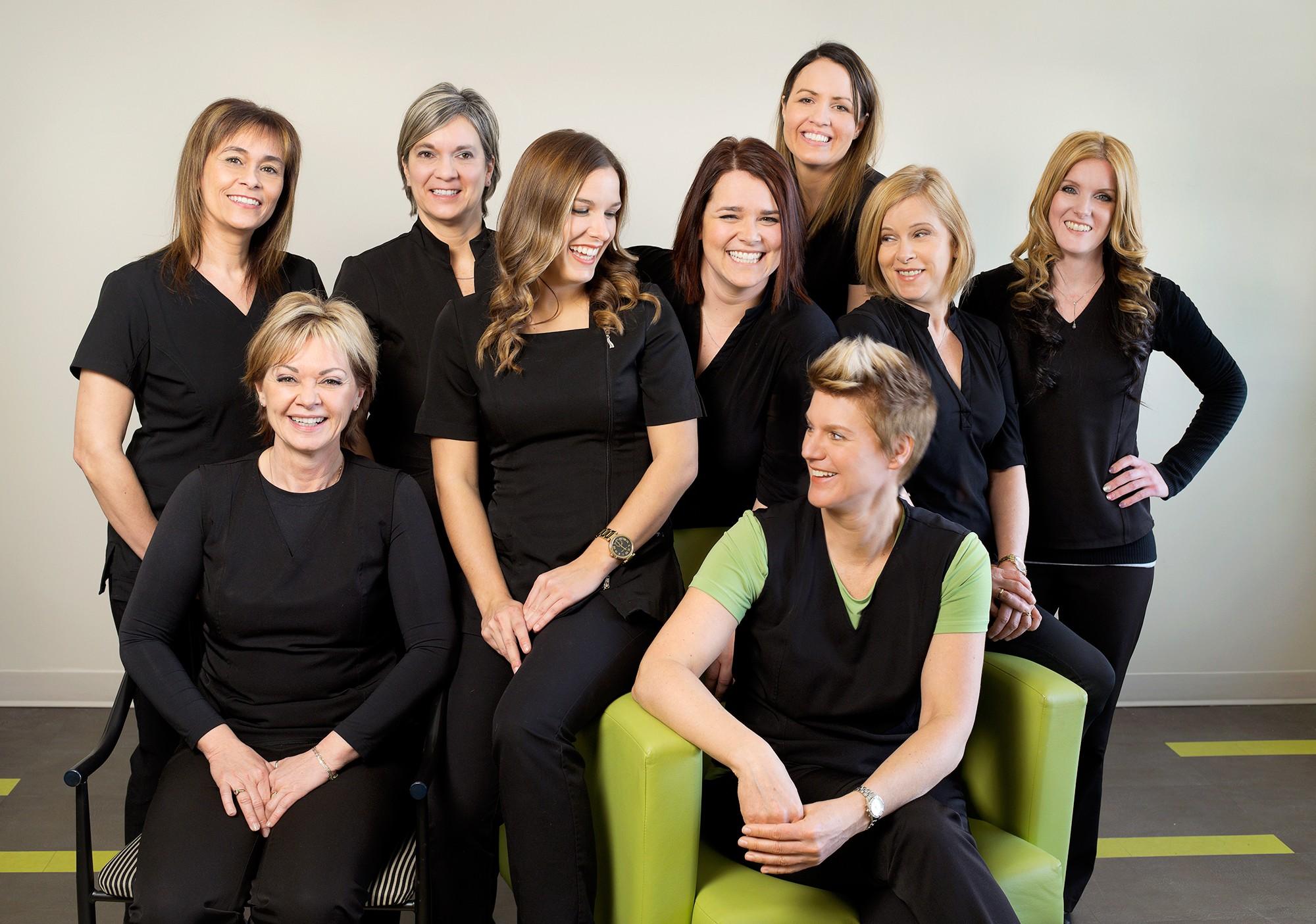 Portrait d'équipe de travail en entreprise de la santé / Client: Centre dentaire Tania Fortin