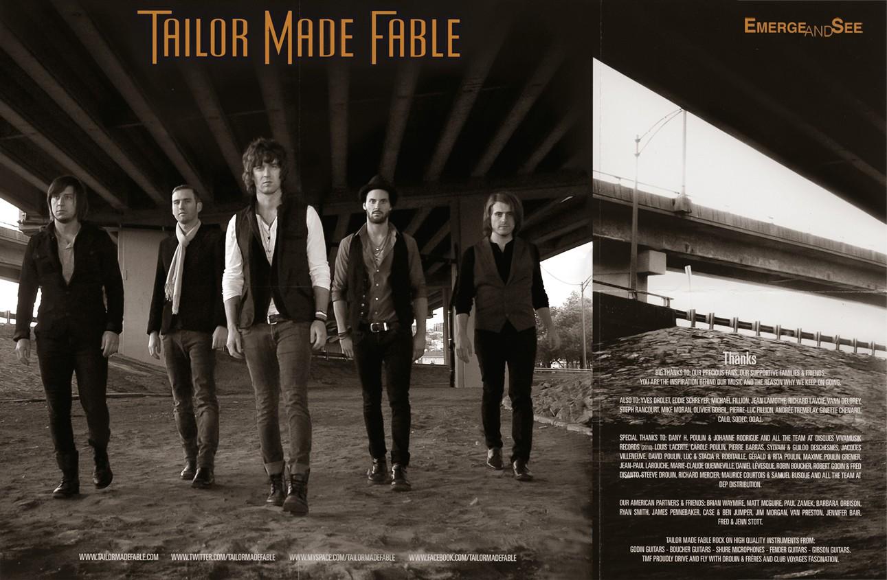 Portrait extérieur d'un groupe de musiciens pour illustrer CD de musique / Client: Tailor Made Fable