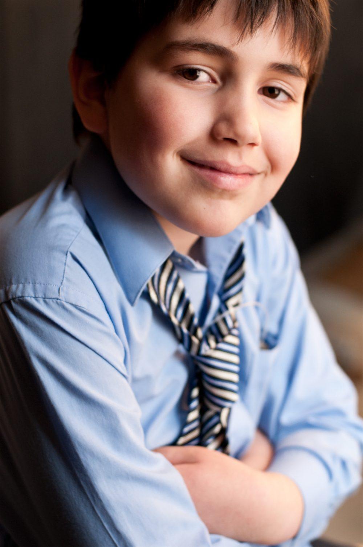 Portrait d'une jeune garçon en lumière naturelle / Séance photo de famille dans Portneuf
